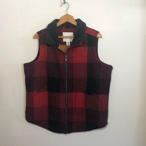 Woolrich Buffalo Check Sherpa Vest